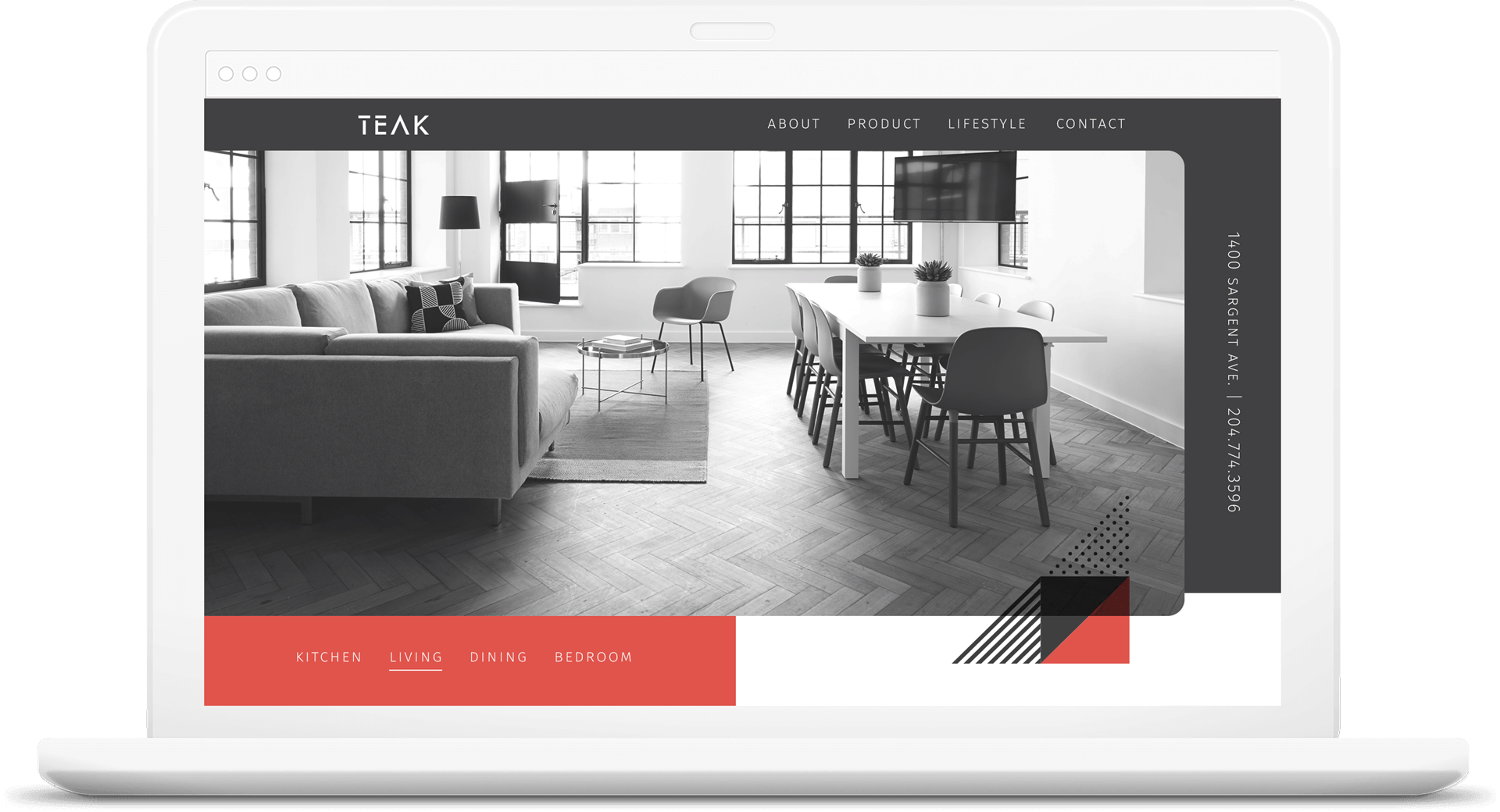 Website redesign for Teak Furniture
