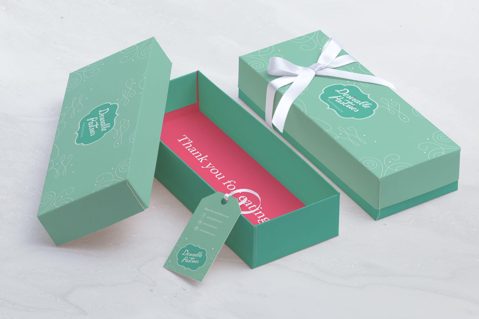 Desirable Pastries grand opening event box