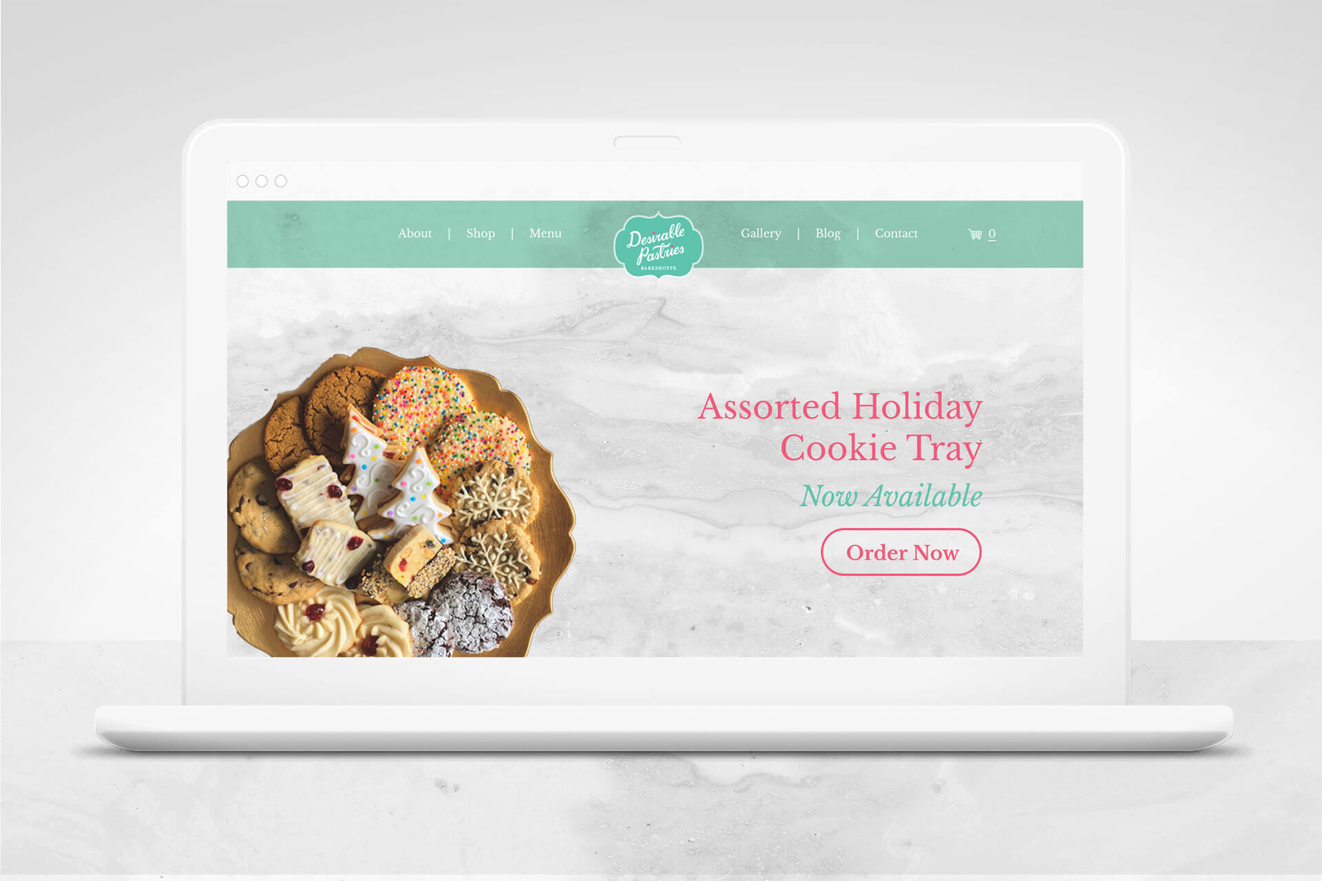 Desirable Pastries website design
