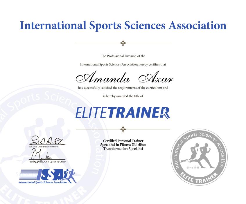 Elite Trainer Certificate