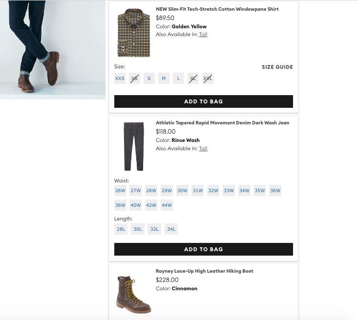 personalization examples j crew