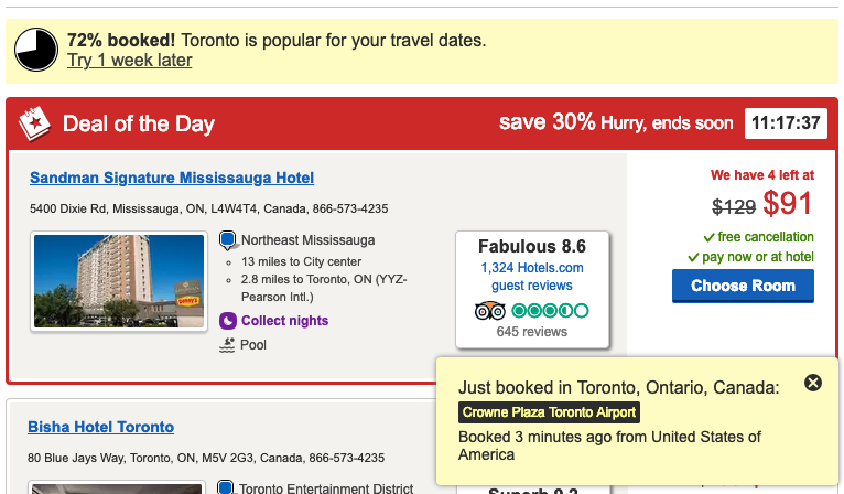 personalization examples hotels.com