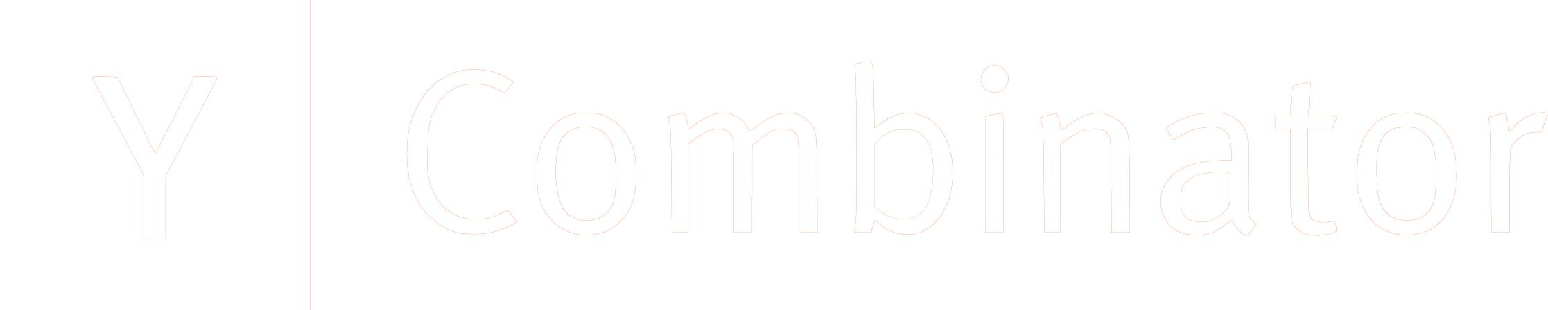 Y Combinator Logo white