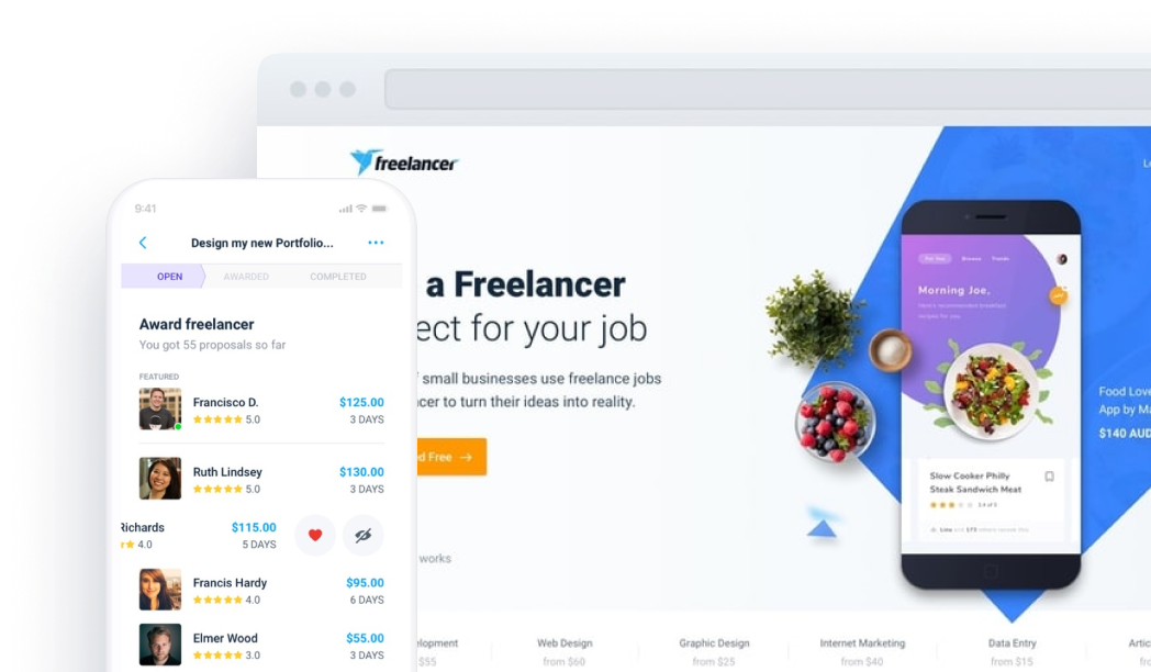 Freelancer home page