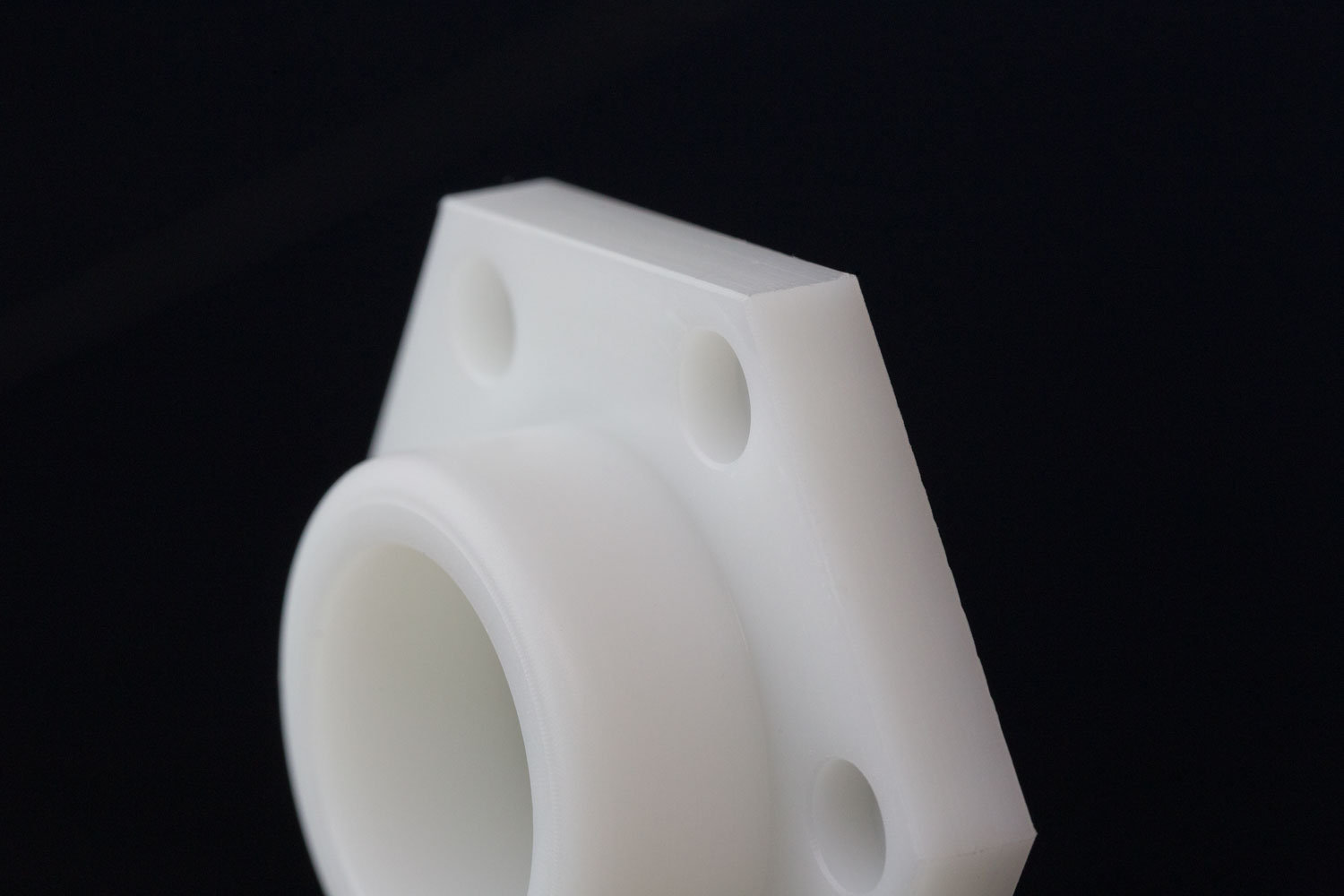 cnc machined hdpe plastic material