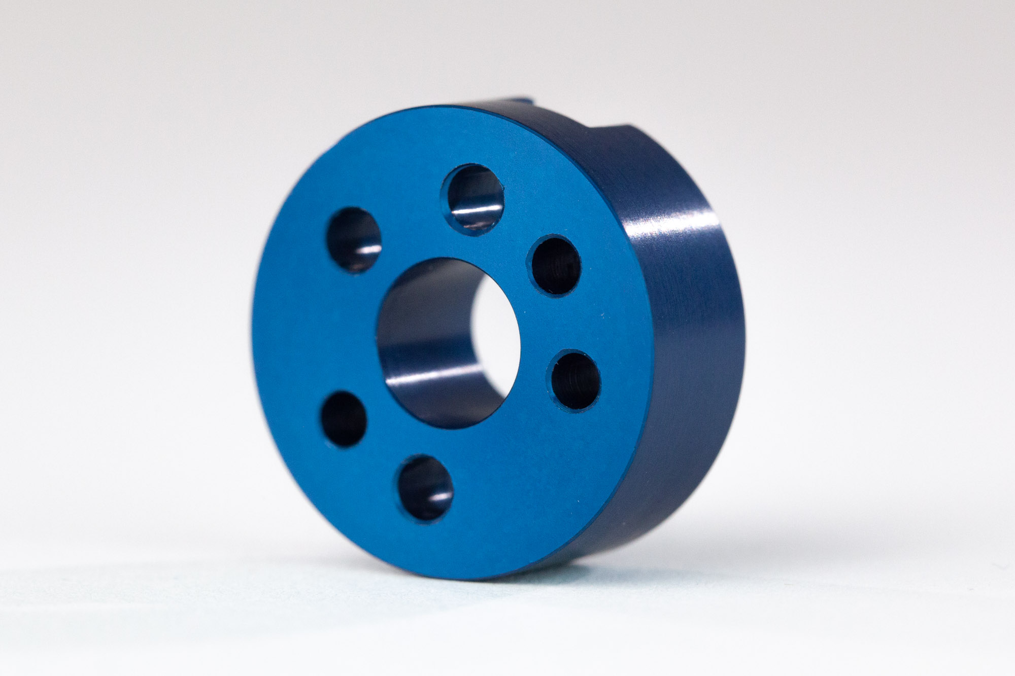 CNC finishing blue anodizing