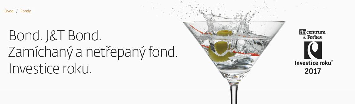 """Internetová stránka J&T Banky, která popisuje fond J&T Bond slovy """"zamíchaný a netřepaný fond""""."""