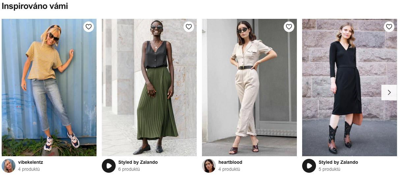 """Outfity v sekci """"Get the Look"""" na Zalandu sestavované influencery."""