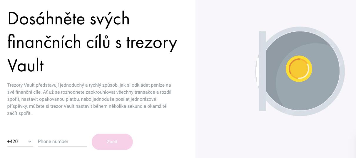 Screenshot webu Revolutu zachycující popis služby Trezor Vault.