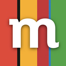 Logo banky mBank, která nabízí jeden z nejvýhodnějších běžných účtů na trhu (vedení účtu i výběry z bankomatů jsou zdarma).