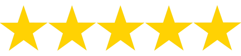 5 hvězdiček z 5, kterými jsme ohodnotili důvěryhodnost banky mBank.