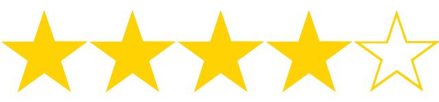 4 hvězdičky z 5, kterými jsme ohodnotili výši úroku a RPSN půjčky od Cofidisu. Úrok začíná na 5,49 % ročně.