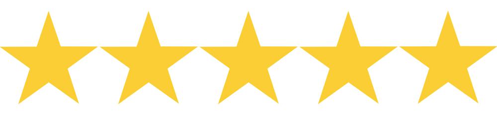 5 hvězdiček z 5, kterými jsme ohodnotili poplatky Home Creditu. Služba má jediný poplatek za změnu či odklad splátky.