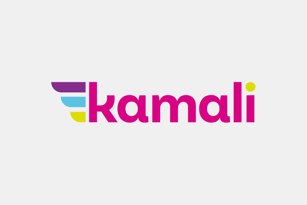Logo firmy Kamali, která poskytuje mikropůjčky. V tomto segmentu je nejlepší a nejférovější poskytovatel na trhu.