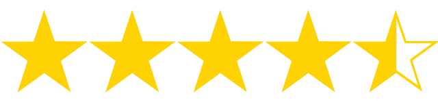 4,5 hvězdičky z 5, kterými jsme na Fondíku ohodnotili náš celkový dojem z půjčky od Zonky.