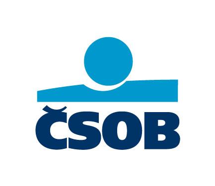 Logo banky ČSOB, která nabízí půjčku s úrokem začínajícím na 4,9 % ročně.