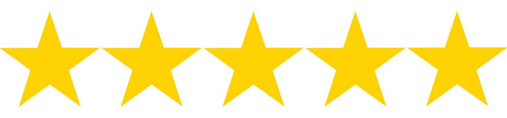 5 hvězdiček z 5, kterými jsme v recenzi fondu Sporoinvest ohodnotili důvěryhodnost České spořitelny.