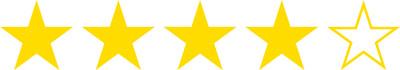 4 hvězdičky z 5, kterými jsme ohodnotili výši cashbacku na Tipli.