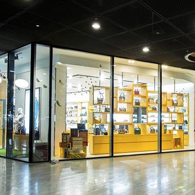 Mall Storefront Glass