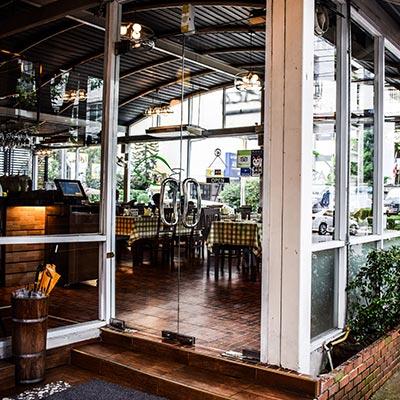 Cafe Storefront Glass