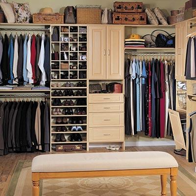 Wood Master Closet
