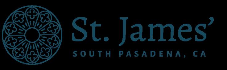 St. James' Episcopal Church, South Pasadena logo in blue.