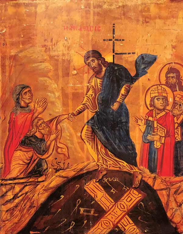 Eastern Orthodox icon of resurrection of Christ.