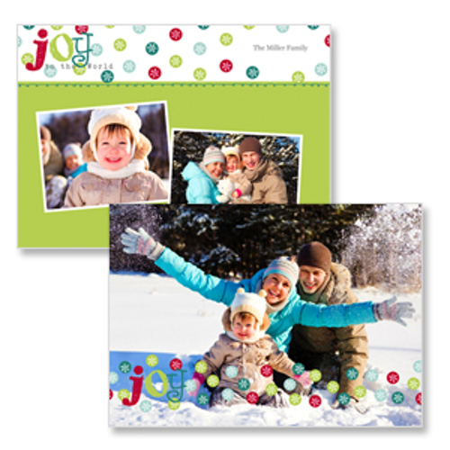 Flat Card 2 sided Christmas Card