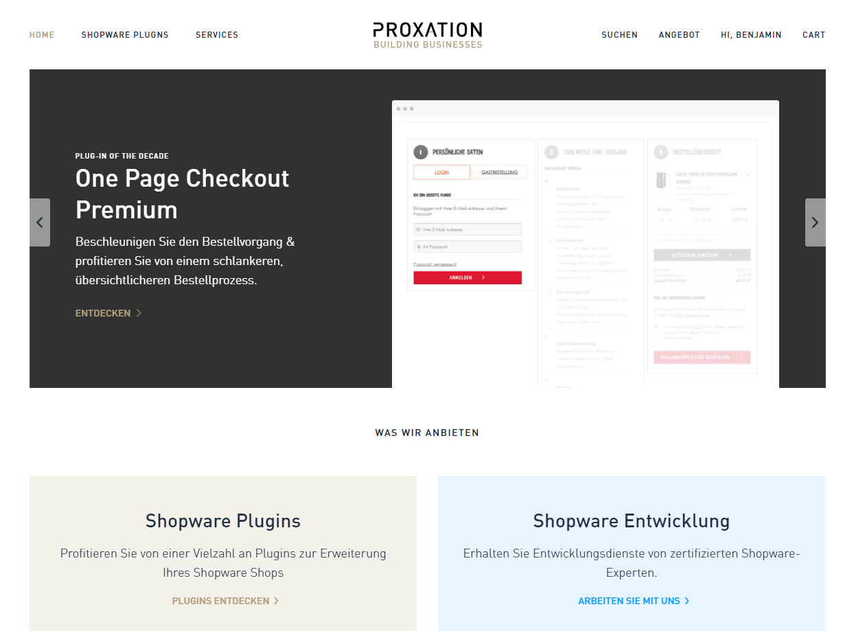 Proxation E-Commerce Referenzen shopware