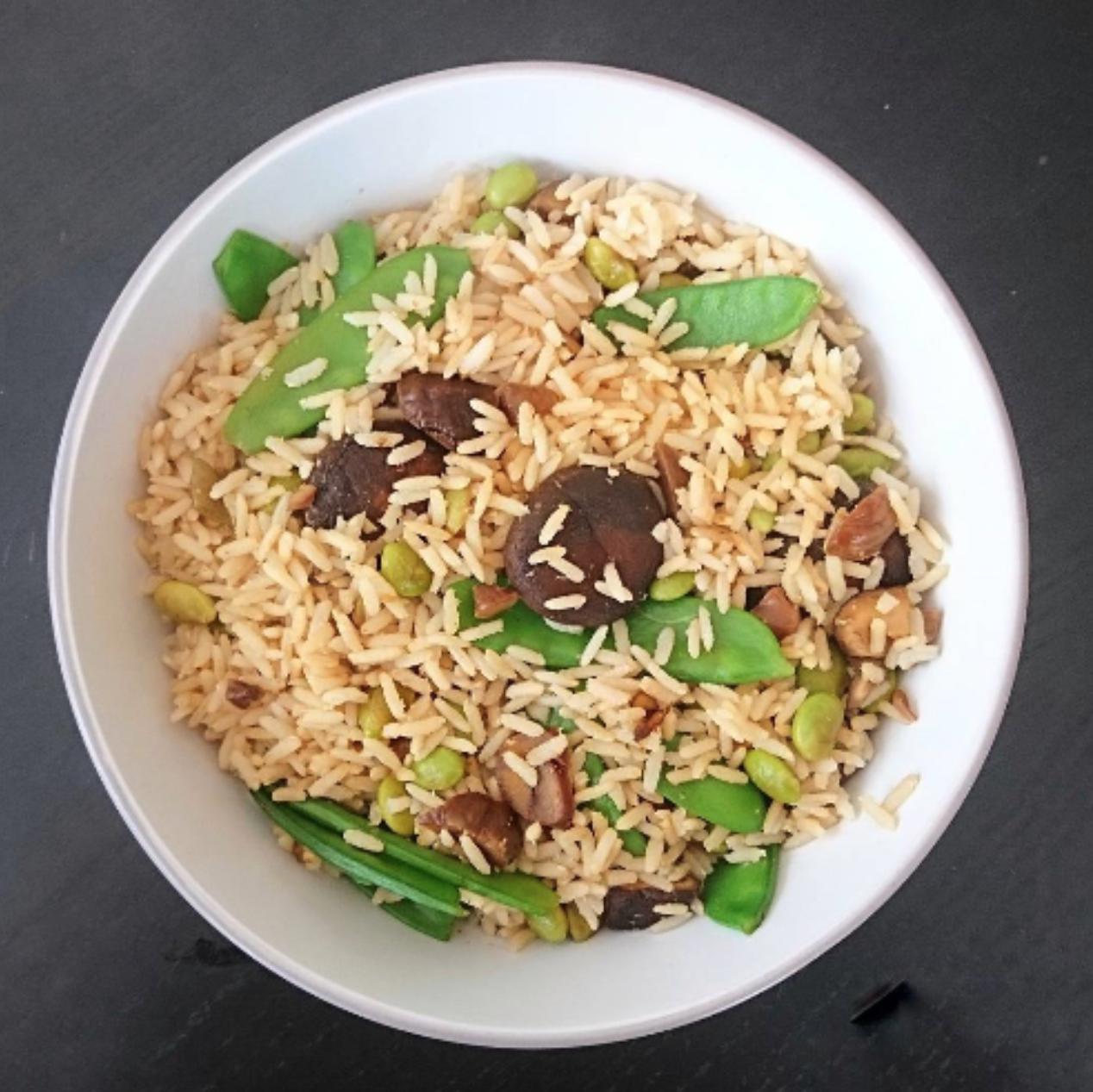 Stir-fried Mushroom Rice Bowl