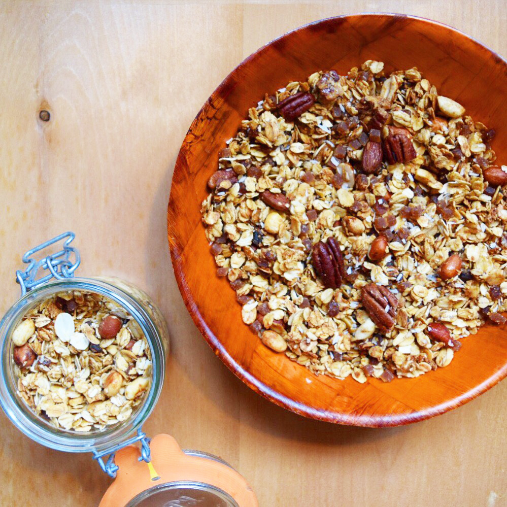 Maple Syrup and Nuts Granola
