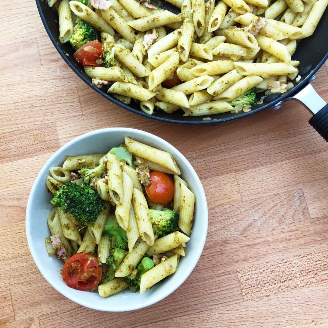 Broccoli Basil Pesto Pasta