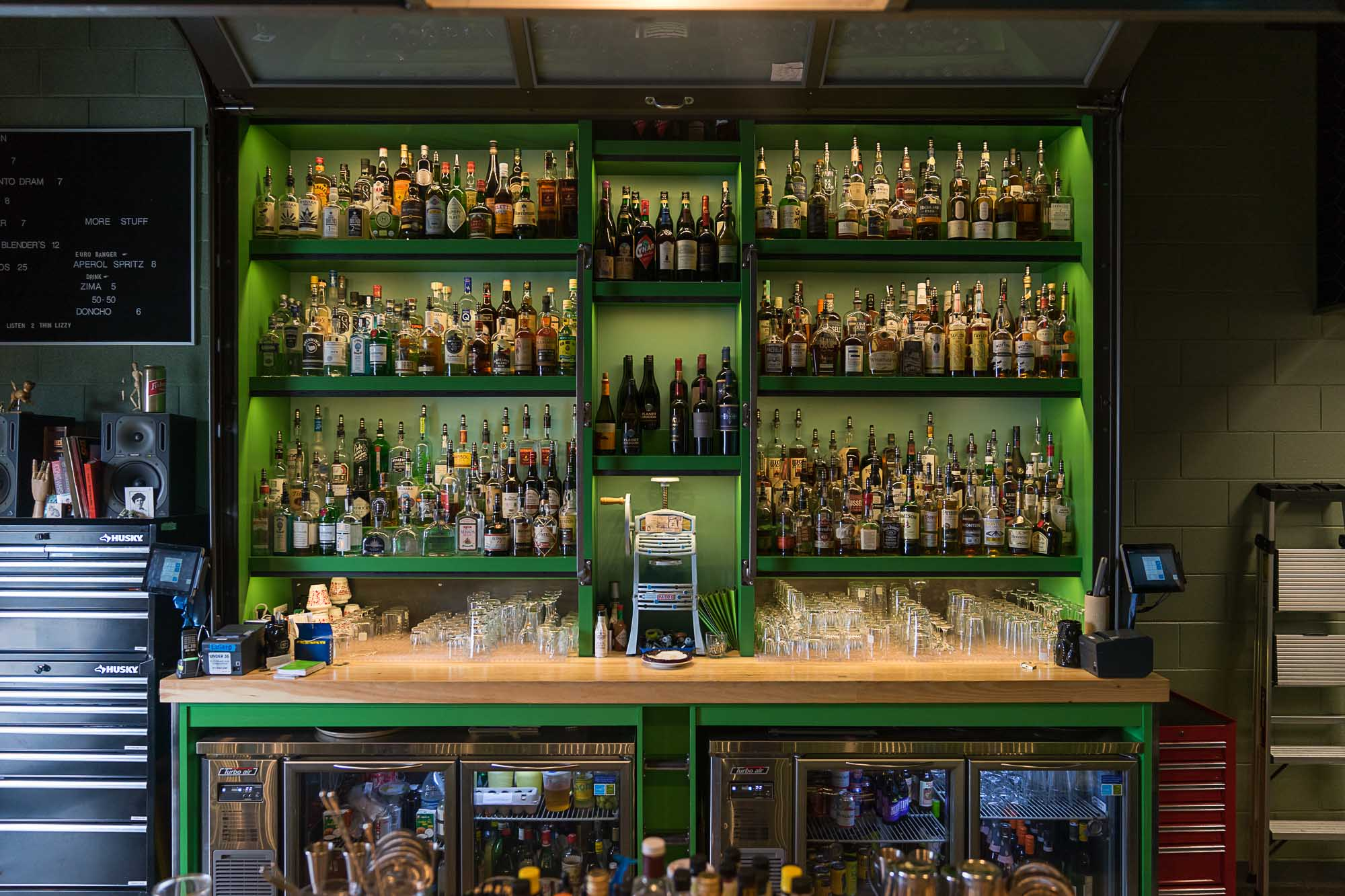 The bar at Water Witch in Salt Lake City Utah