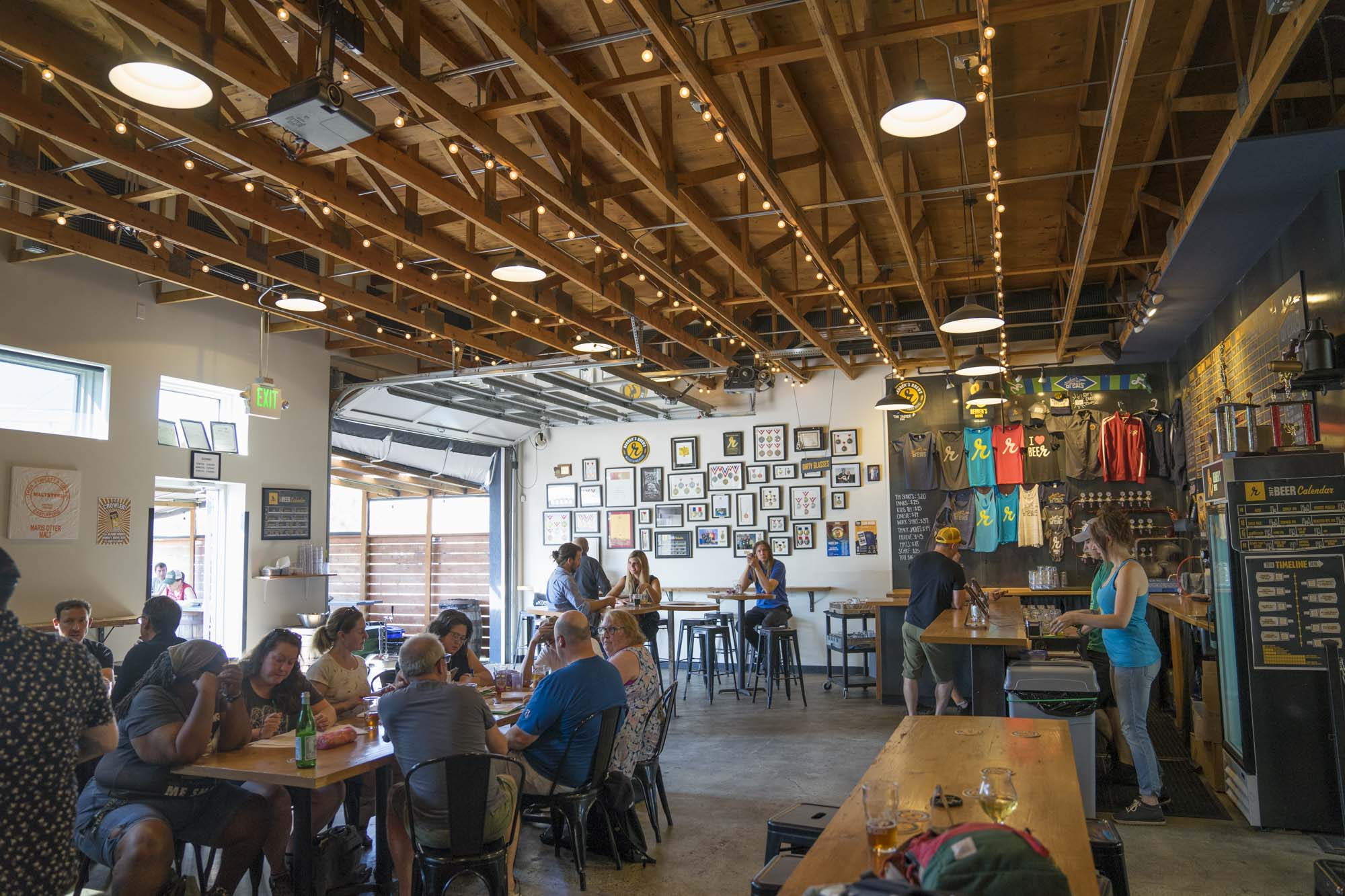 The interior of Reuben's Brews, one of Seattle's best breweries.