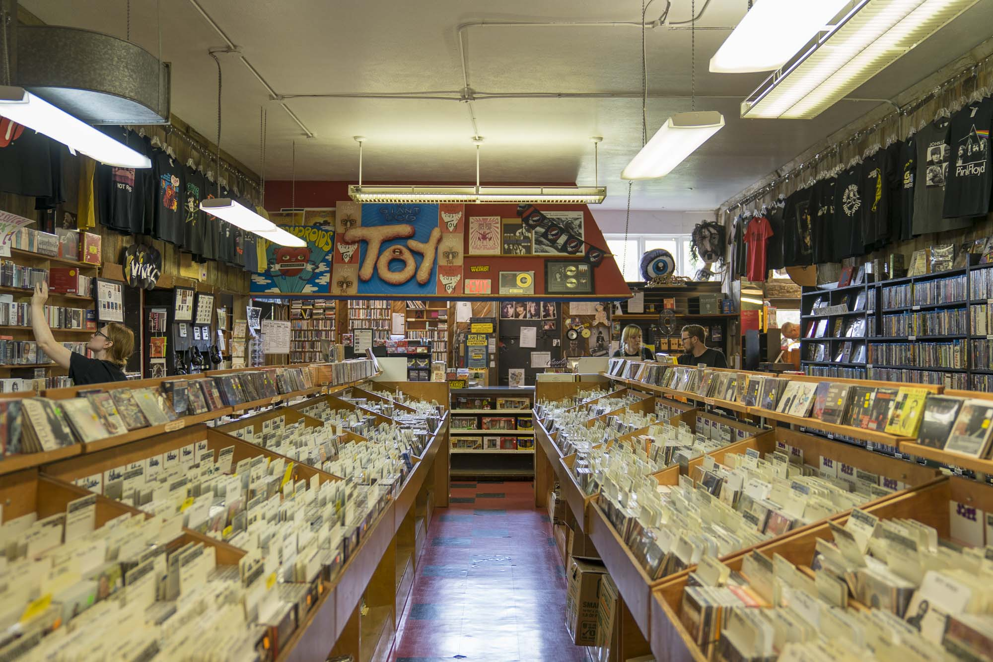 Snagging records at Music millenium is a local must for an Ultimate Day in Portland according to Dirt Road Travels.