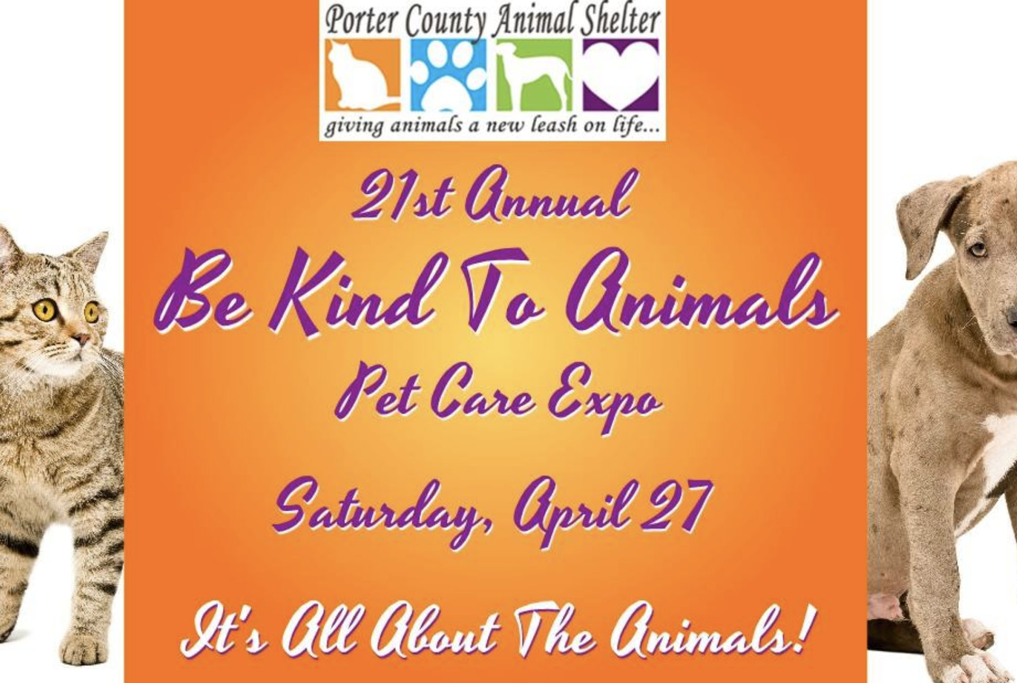 Come see pet non-profits, rescues, vets, pet hospitals, pet photographer, pet supply stores, microchip clinic, food, raffles, door prizes and, of course, ANIMALS!