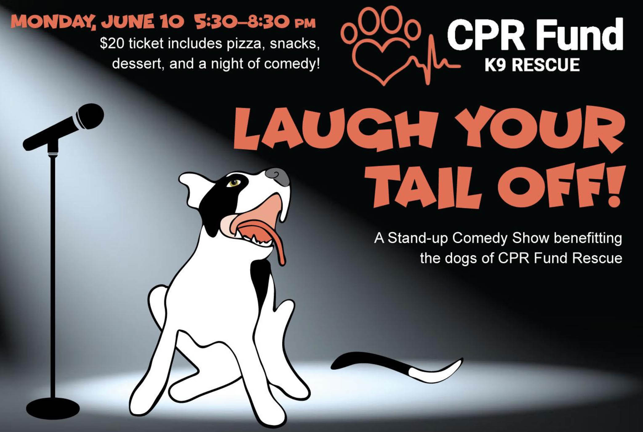 Join us for this fundraising event! Adoptable dogs, food, raffles, and beer - what more could you want? Yes, it's a Monday, but a portion of sales are donated back.