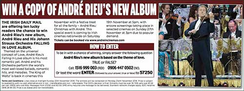 Promotion of Andre Rieu