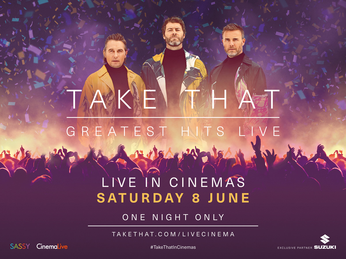 Take That in Cinemas June 8th