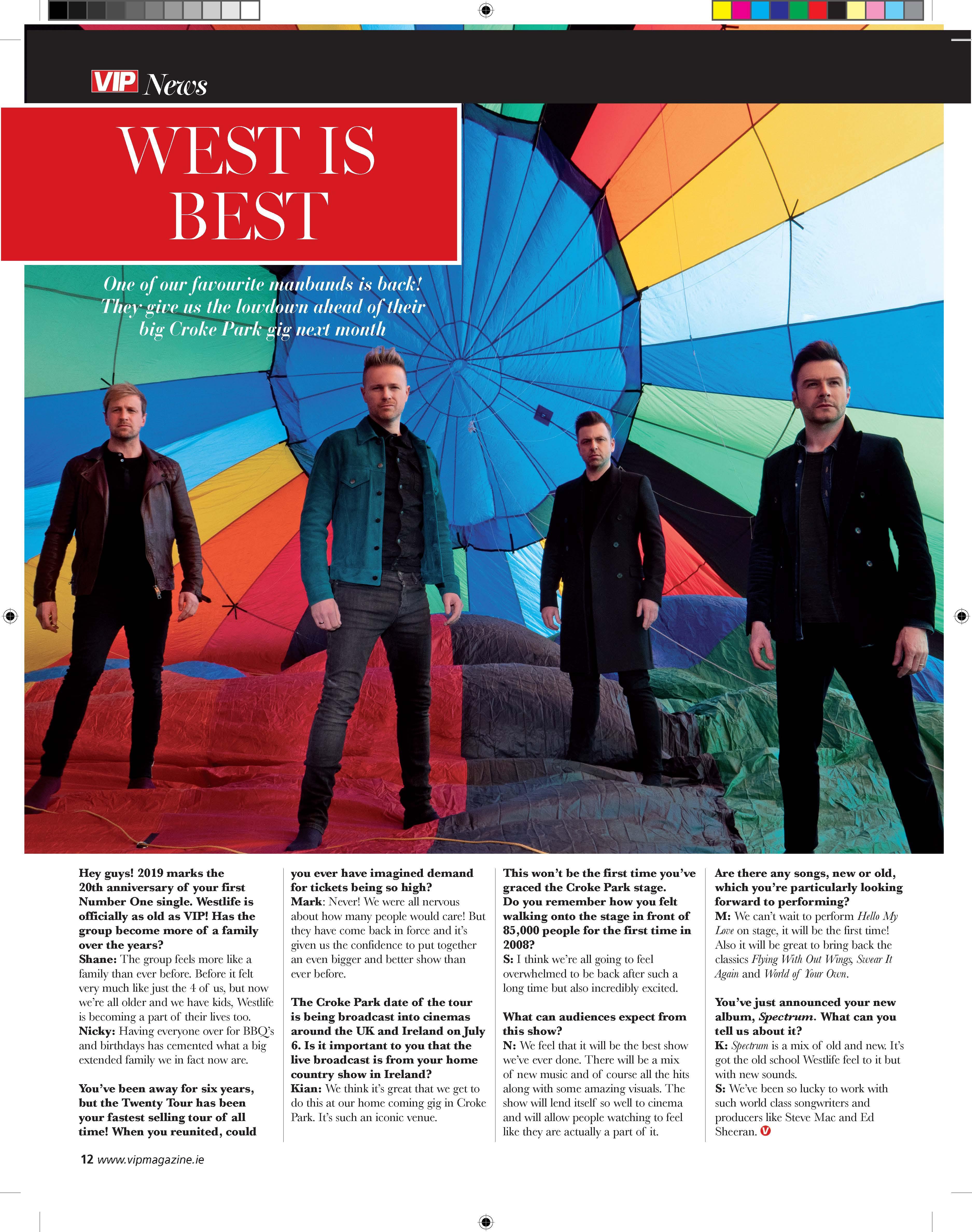 VIP Magazine -WESTLIFE