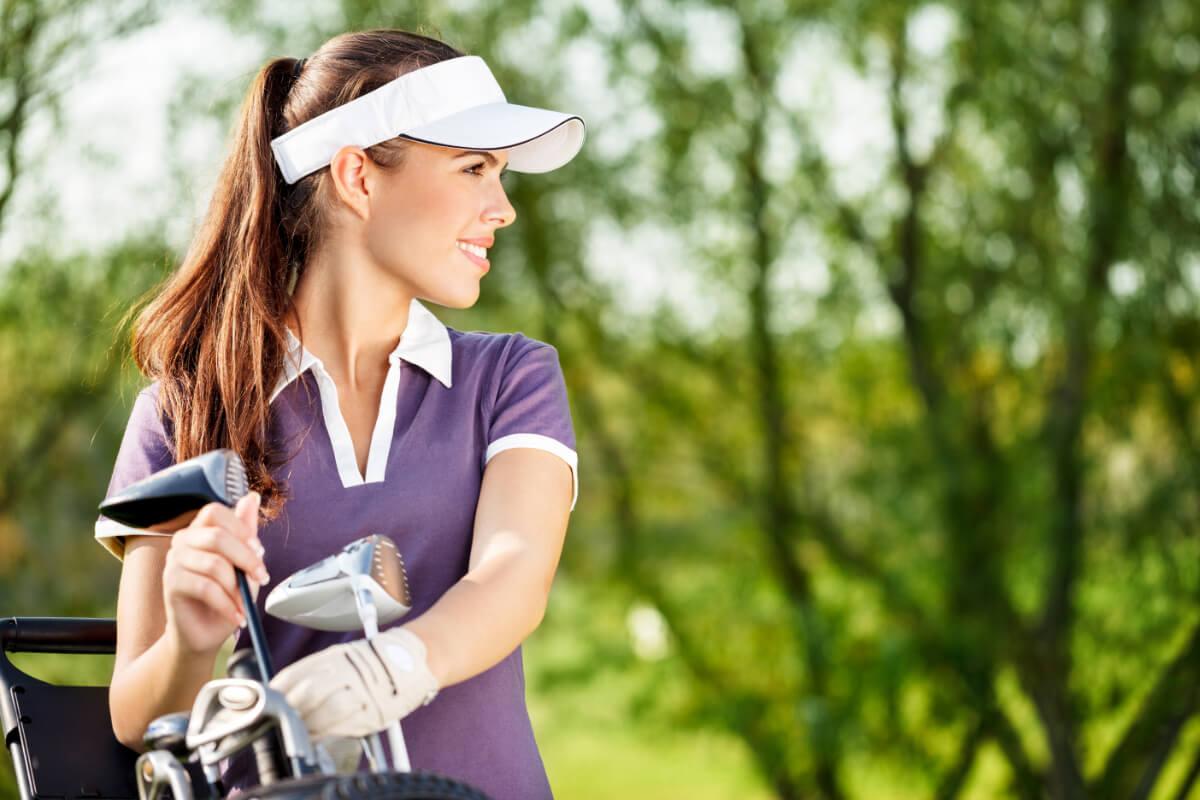 Girl Golf Intern Playing Golf