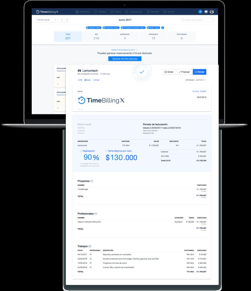 Facturacion TimeBilling software para abogados