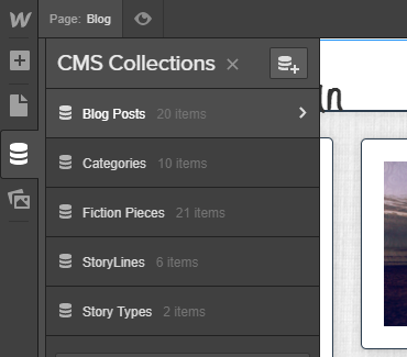 "It comes with ""Blog Posts"" and ""Categories"" preset. And a limit of 50 CMS items."