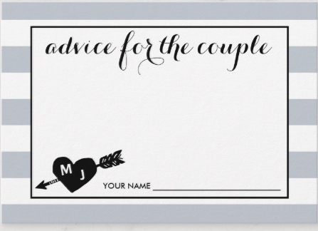 "Zazzle ""Advice for the couple"" card"