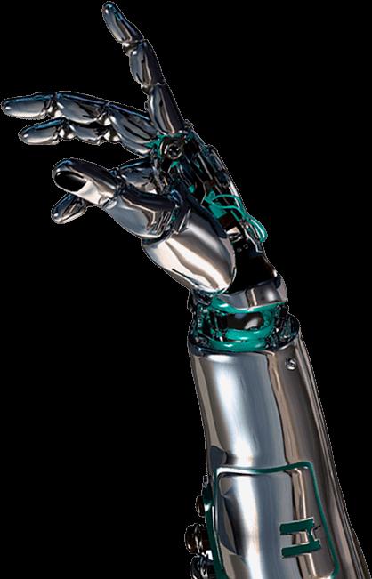 mao robótico da futuro