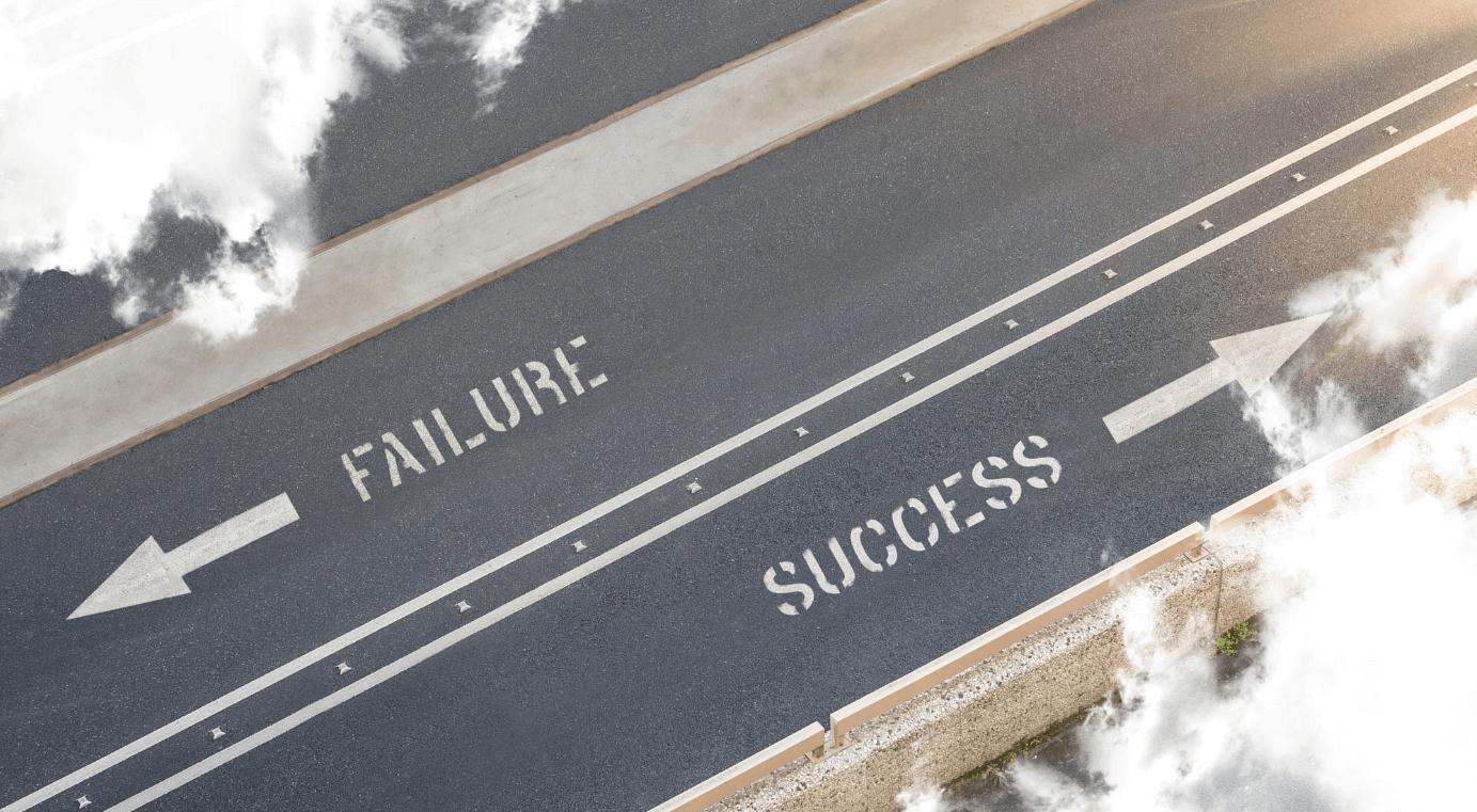 Como ter coragem de fracassar - Caminho do fracasso e sucesso