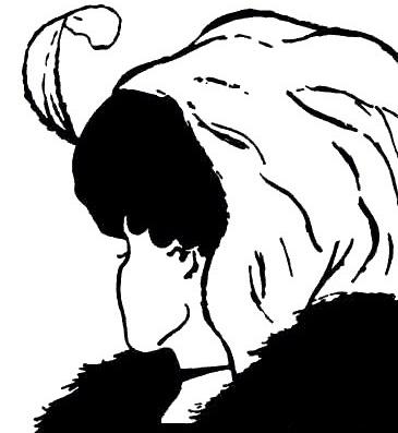 Ilustração com ilusão de ótica, a imagem mostra uma mulher jovem ou uma idosa dependendo de como é vista.