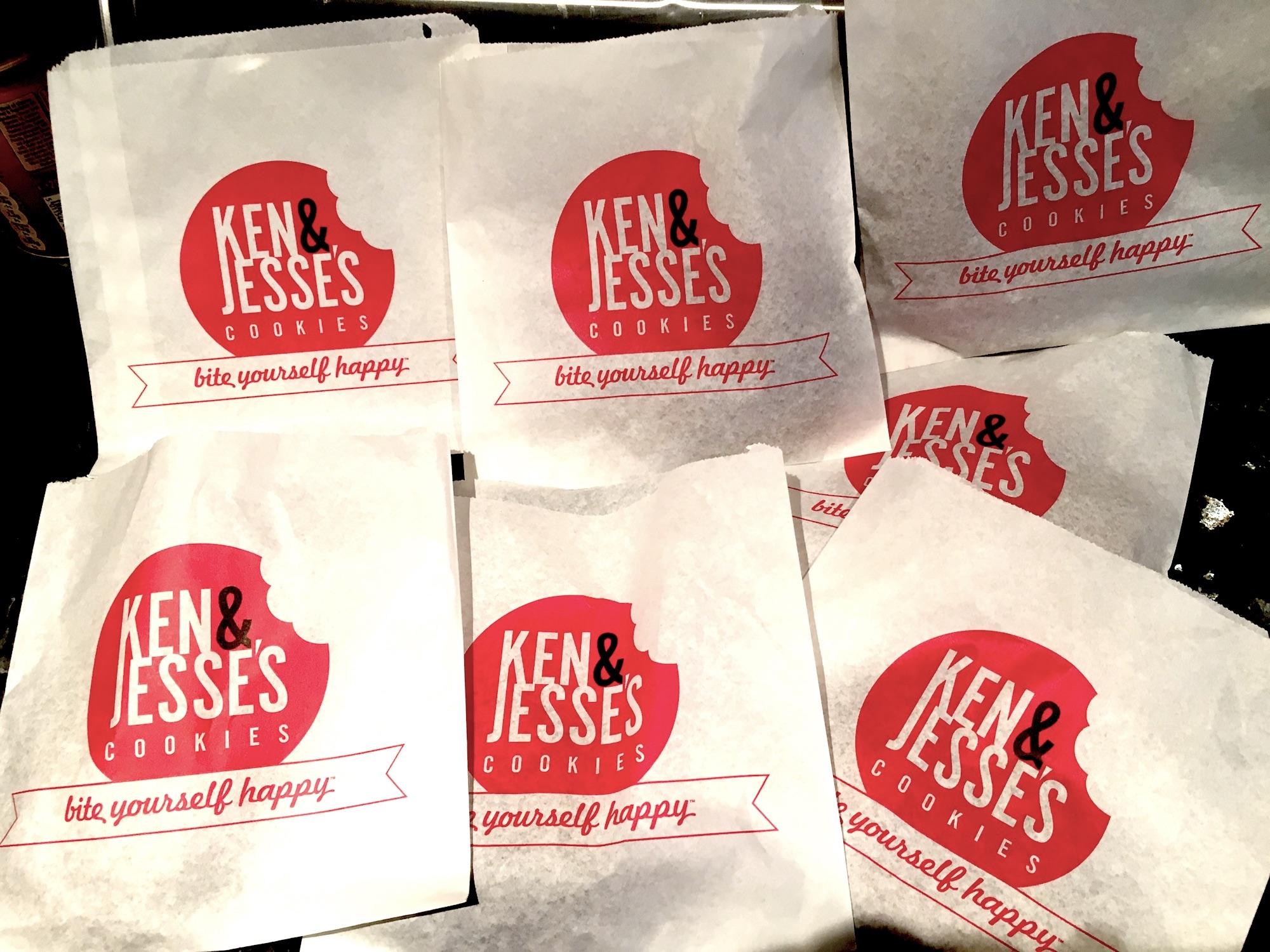 Ken and Jesse's cookies paper bags