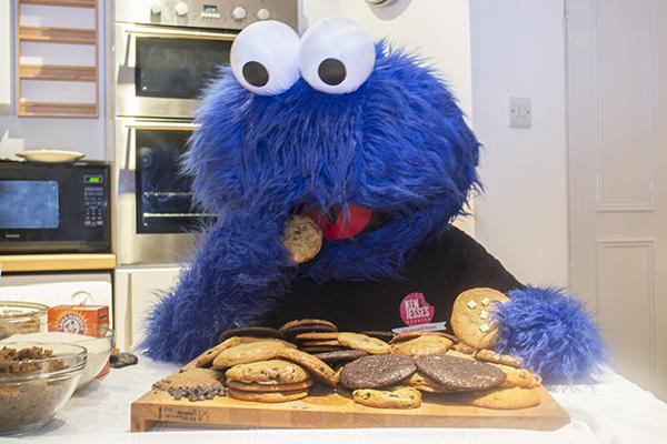 Cookie monster eating cookies