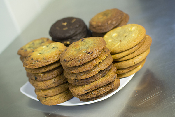 various cookies stacked up